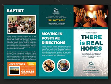 Free Church Brochure Templates by 10 Popular Church Brochure Templates Design Free Psd