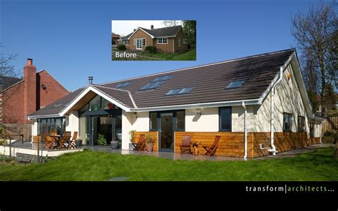 Bungalow Contemporary Before And After Makeover House