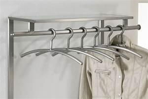 Design Garderobe Edelstahl : wandgarderobe aus edelstahl und ablage aus glas garderobe ~ Michelbontemps.com Haus und Dekorationen