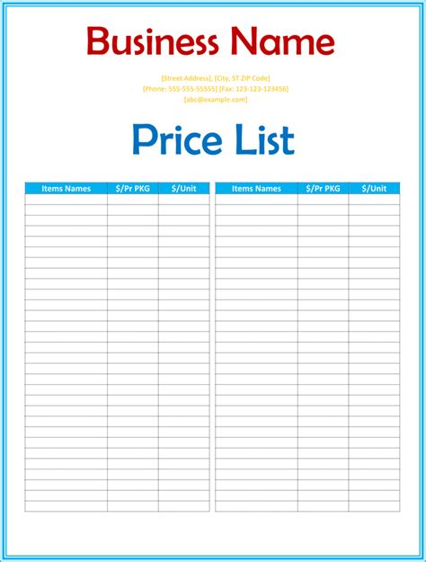 Product Price List Template With Pictures by Product Price List Template With Pictures 28 Images