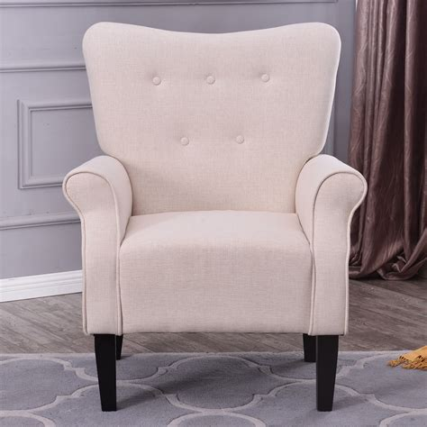 Back Armchair by Button Back Armchair Accent High Back Living Room Bedroom