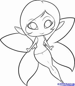 Easy Fairy Drawings In Pencil For Kids - Drawing Of Sketch