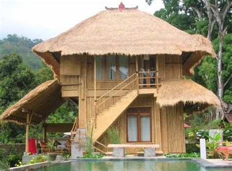 inilah  inspirasi rumah bambu minimalis modern pesona
