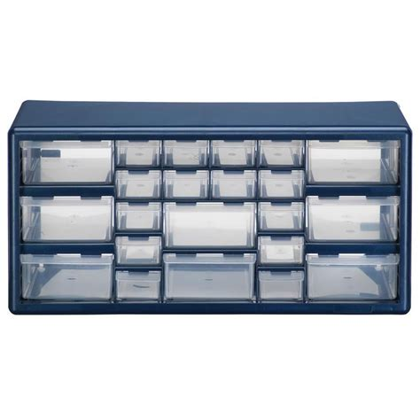 plastic storage cabinets lowes shop stack on 19 38 in x 9 62 in 22 drawer blue plastic