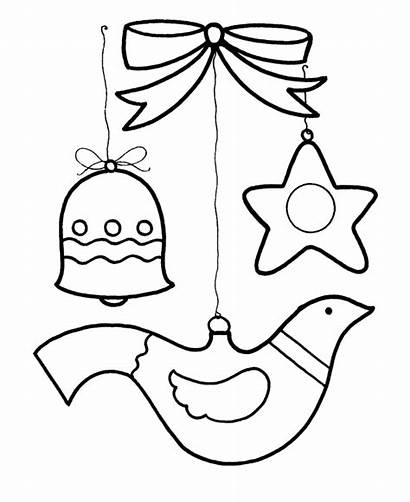 Coloring Christmas Pages Ornament Ornaments Season Tree
