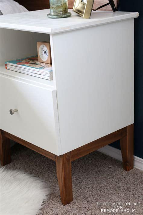 ikea hack mid century modern remodelaholic easy mid century ikea tarva nightstand hack