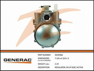 Generac 0d3938a Fuel Regulator Rv Lp  U2013 Ziller Electric