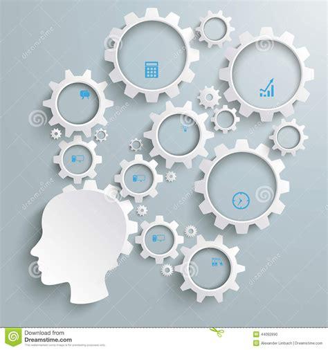 employee big brain activity infographic stock vector