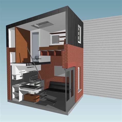 canape anglais un micro appartement de 15 mètres carrés dans une maison en brique minuscule