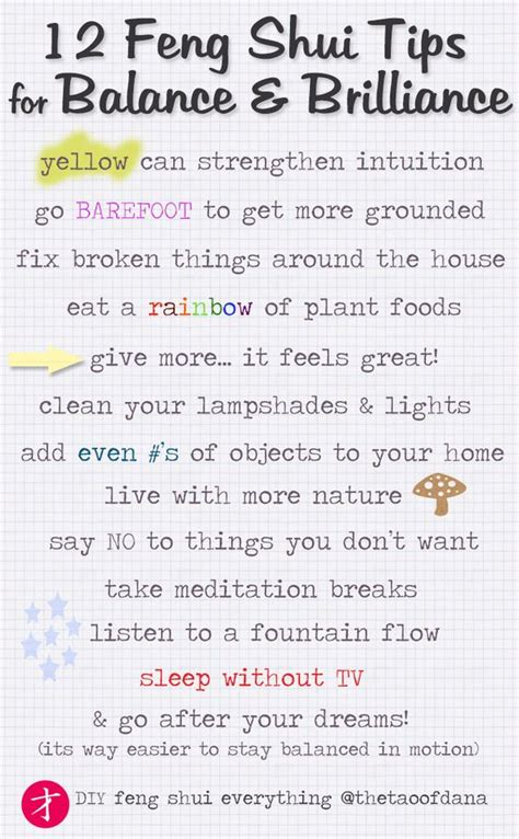 12 Feng Shui Tips For A Balanced Life! Typography