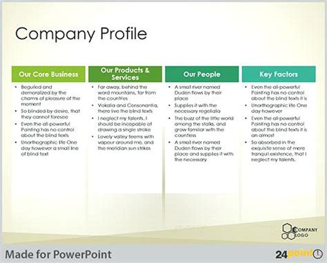 Company Profile Presentation Template New Format Trading