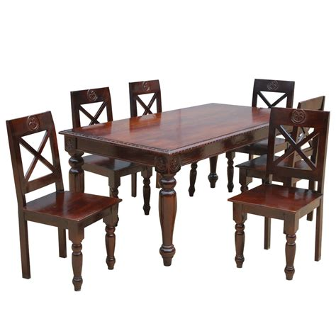 rustic dining table and chairs set