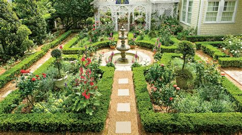 british inspired courtyard classic courtyards southern living