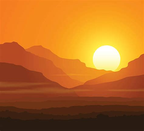 sunset illustrations royalty  vector graphics