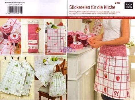 nappe de cuisine grille point croix livret 119 design broderies pour