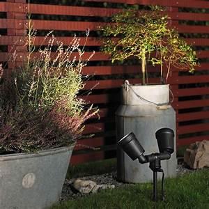 Eclairage Exterieur Jardin : spots led double eclairage de jardin amalfi ~ Melissatoandfro.com Idées de Décoration