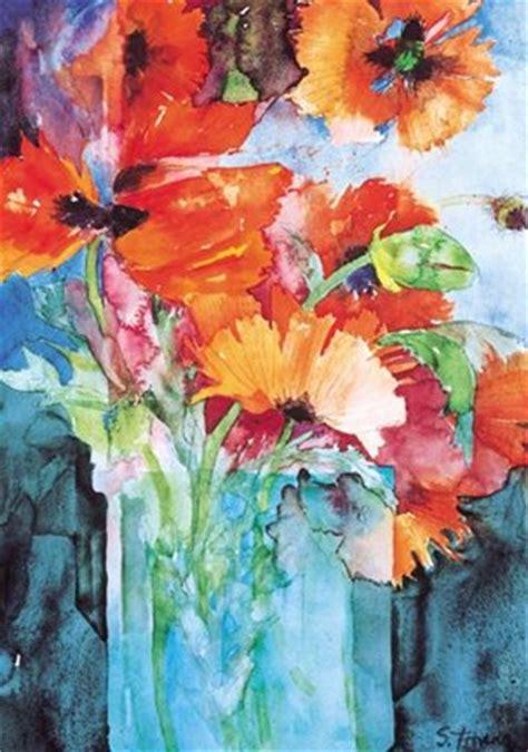 oriental poppies fine art print  shirley trevena