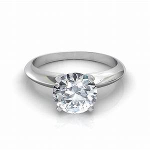 knife edge round cut solitaire engagement ring With knife edge wedding ring