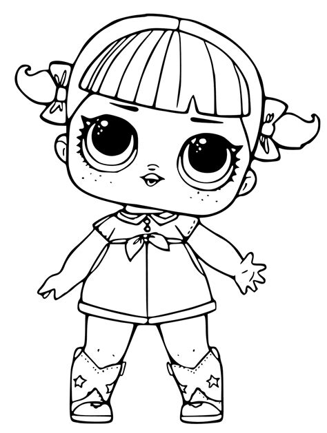 coloring doll lol doll coloring pages cherry lol dolls lol