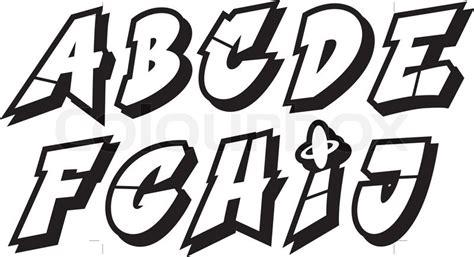 Graffiti Vector Font : Graffiti Font Alphabet (part 1)