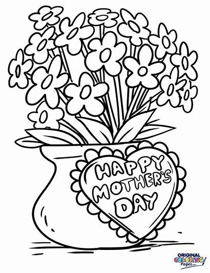 Mothers Coloring Mother Pages Mom Flowers