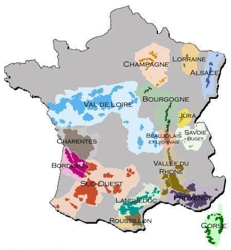 Carte Vin Aoc by Carte Des C 233 Pages Des Vins De Et Appellations Aoc