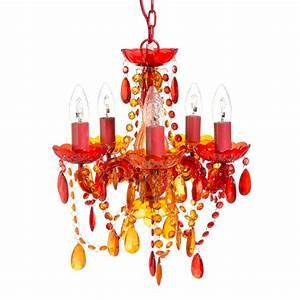 Lustre Baroque Maison Du Monde : lustre en plastique acrylique rouge et orange d 35 cm gipsy maisons du monde lampes ~ Teatrodelosmanantiales.com Idées de Décoration