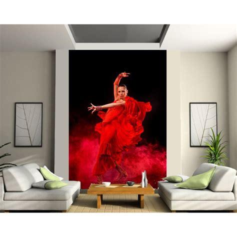 papier peint grande largeur danseuse flamenco stickers