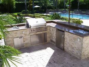 L Shaped Outdoor Kitchen Layout