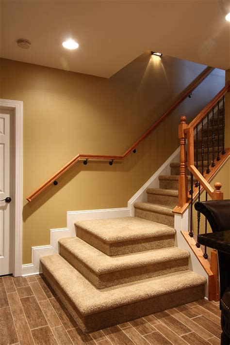Finishing Basement Stairs Ideas by Basement Stairs Traditional Staircase Dc Metro By