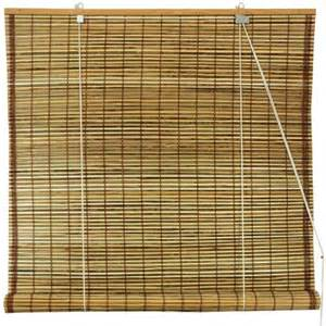 burnt bamboo roll up blinds tortoise walmart com