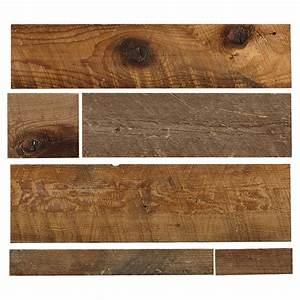 "Wood Panel - Real Barn Wood - 2"" to 10"" - Brown RONA"