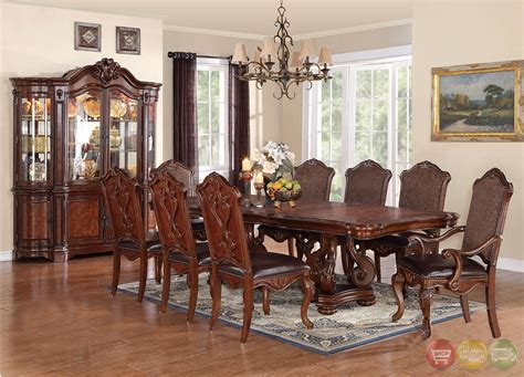 luciano traditional medium wood formal dining set