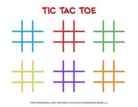 Printable Tic Tac Toe Board Template