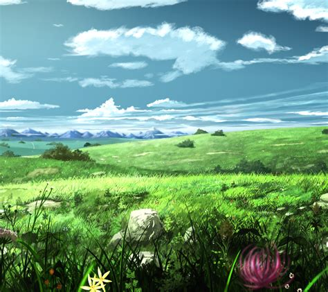 Anime Nature Wallpaper Hd - anime nature wallpaper 77 images