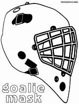 Goalie Mask Coloring Pages Colorings Print sketch template