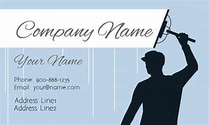 Blue window cleaning business card design 1303011 for Window cleaning business cards