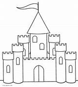 Castle Coloring Pages Printable Cool Simple Princess Preschoolers Easy Draw Sheets Adults Cool2bkids Disney Very Coloringfolder sketch template