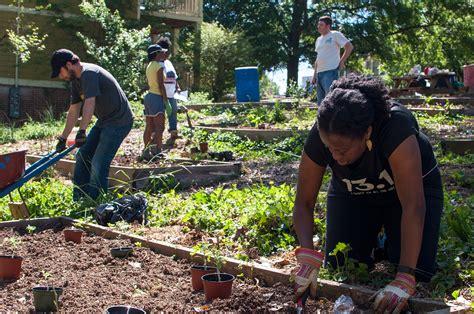 planting a garden community garden planting photos westview atlanta