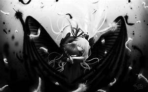 Anime boy air monochrome angel black cute girl kamio ...