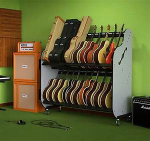 The Band Room Double-Stack™ Guitar Shelf Rack | Reverb