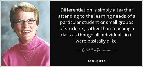 quote differentiation  simply  teacher attending