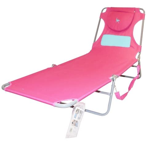 Ostrich Chair Folding Chaise Lounge by Ostrich Chair Folding Chaise Lounge Pink Backpack