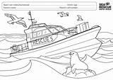 Colouring Sea Rescue Competition Boat Whole Nsri sketch template