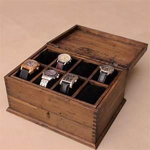Boite De Montre : bo te de montre masculine rustique personnalis es pour 8 montres et tiroir d i y pinterest ~ Teatrodelosmanantiales.com Idées de Décoration