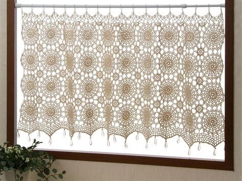 This Is So Cool. A Crochet Curtain. I Love This. I Know How To Crochet.. No Drill Hole Curtain Rod Brackets Matching Duvet Covers And Curtains Uk Tie Backs Bed Bath Beyond Dunelm Mill Nursery Blackout Black White How To Measure Width For Grommet Top Suzani Fabric Shower Side Trailer Dimensions
