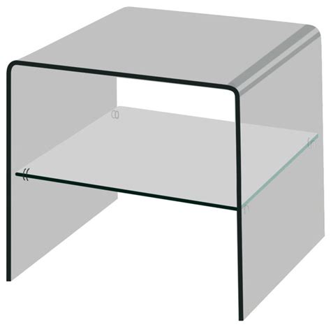 bent glass end table creative images international bent glass end table with