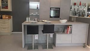 Küche In Betonoptik : insel k che von linea in betonoptik farbe nobilia k chen ~ Michelbontemps.com Haus und Dekorationen