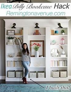 Ikea Billy Bookcase Library Hack - Remington Avenue