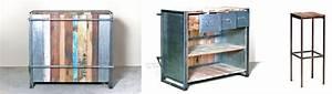 Meuble Bar Industriel : meubles de style industriel la collection edito rue de siam ~ Teatrodelosmanantiales.com Idées de Décoration
